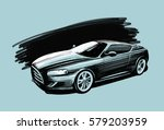 sports car. vehicle sketch... | Shutterstock .eps vector #579203959