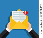 concept of incoming email love...