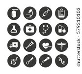 medical icons set in circle... | Shutterstock .eps vector #579210103
