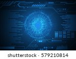 vector technology background... | Shutterstock .eps vector #579210814