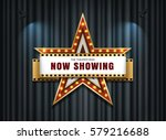 theater sign star shape on... | Shutterstock .eps vector #579216688