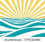 abstract vector summer... | Shutterstock .eps vector #579226480