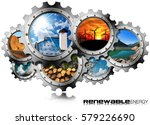 renewable energy concept  ... | Shutterstock . vector #579226690