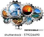 renewable energy concept  ... | Shutterstock . vector #579226690