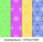 set of decorative floral... | Shutterstock .eps vector #579227509
