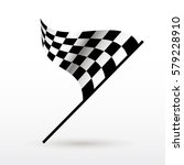 start and finish flags. auto... | Shutterstock .eps vector #579228910