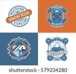 vector winter sport... | Shutterstock .eps vector #579234280