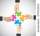 four organization going to... | Shutterstock .eps vector #579242014