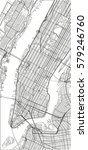 black and white vector city map ... | Shutterstock .eps vector #579246760