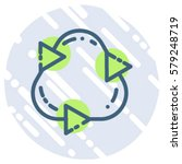 refresh thee arrow vector  icon ...