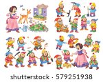 snow white and the seven dwarfs.... | Shutterstock . vector #579251938