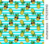 tropic seamless pattern with... | Shutterstock .eps vector #579255940