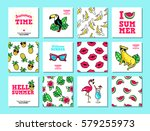 hello summer. set of vector... | Shutterstock .eps vector #579255973