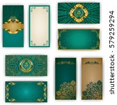 set of elegant template for vip ...   Shutterstock .eps vector #579259294