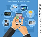 smart house and internet of... | Shutterstock .eps vector #579260359