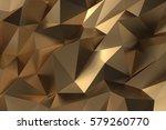 elegant luxury abstract golden... | Shutterstock . vector #579260770