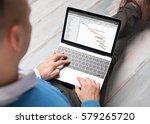 man using project management... | Shutterstock . vector #579265720