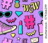 Vector Neon Pop Background 80s...