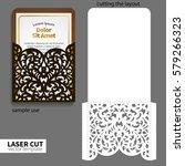 vector laser cutting. | Shutterstock .eps vector #579266323