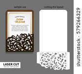 vector laser cutting. | Shutterstock .eps vector #579266329