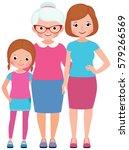 family portrait daughter mother ... | Shutterstock .eps vector #579266569
