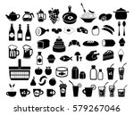 food. the icons set. vector... | Shutterstock .eps vector #579267046