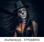 Portrait Of Zombie Woman With...