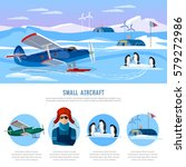 study of the arctic and... | Shutterstock .eps vector #579272986