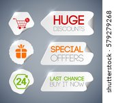 sale labels set with discounts... | Shutterstock .eps vector #579279268