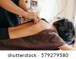acupuncture session in japanese ... | Shutterstock . vector #579279580