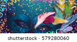 realistic carnival mask wather... | Shutterstock .eps vector #579280060