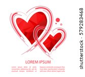 two hearts isolated on white...   Shutterstock .eps vector #579283468
