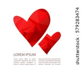 two hearts isolated on white...   Shutterstock .eps vector #579283474
