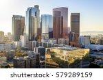 downtown skyline los angeles ... | Shutterstock . vector #579289159