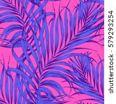 seamless tropical pattern.... | Shutterstock .eps vector #579293254