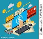 internet banking  money... | Shutterstock .eps vector #579294670