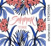 summer time illustration ... | Shutterstock .eps vector #579295504