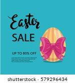 easter sale typographic poster... | Shutterstock .eps vector #579296434
