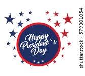 isolated president day sticker... | Shutterstock .eps vector #579301054