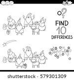 black and white cartoon... | Shutterstock .eps vector #579301309