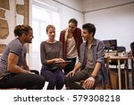 young business team sitting and ... | Shutterstock . vector #579308218