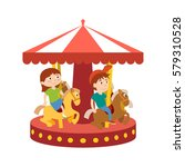 kids on the playground concept. ...   Shutterstock .eps vector #579310528