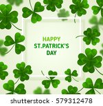 saint patrick's day banner with ... | Shutterstock .eps vector #579312478