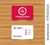 business card template with... | Shutterstock . vector #579323314