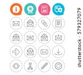 mail services icons. send mail  ... | Shutterstock . vector #579327079
