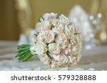 roses peony wedding bouquet... | Shutterstock . vector #579328888