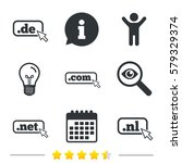 top level internet domain icons.... | Shutterstock . vector #579329374