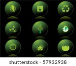 black background with set of... | Shutterstock .eps vector #57932938