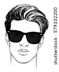 handsome young sexy guy wearing ... | Shutterstock .eps vector #579332200