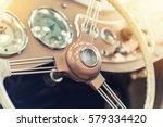 closeup on a dashboard of a...   Shutterstock . vector #579334420